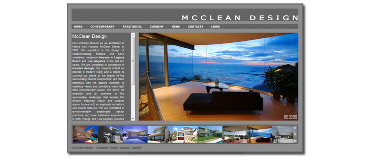 Screenshot www.mccleandesign.com