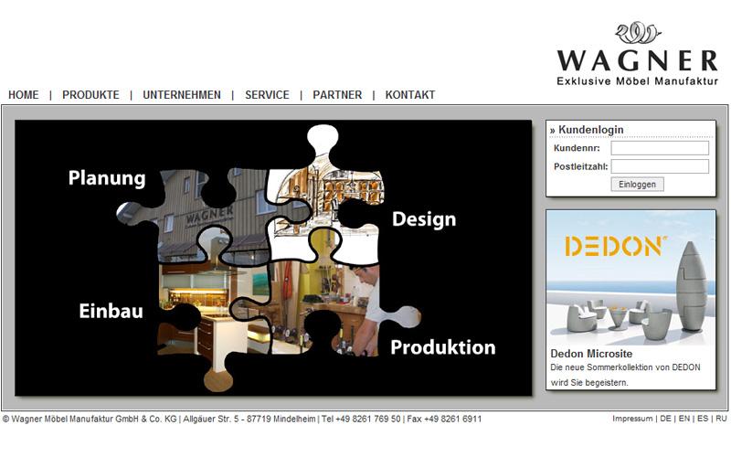 Möbelmanufaktur Wagner wagner möbel mindelheim webdesign flash möbel netcu