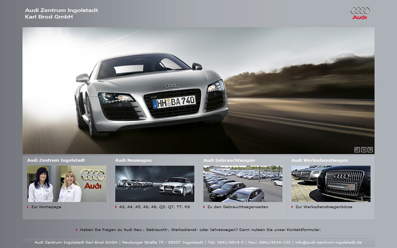 audi zentrum ingolstadt karl brod gmbh webdesign seo. Black Bedroom Furniture Sets. Home Design Ideas